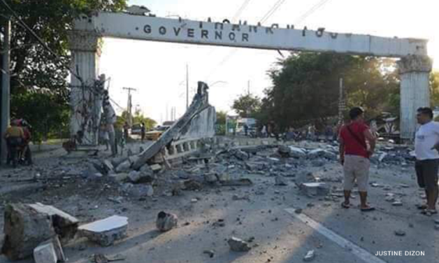 A site in Pampanga after the April 22 earthquake (from CNN Philippines)